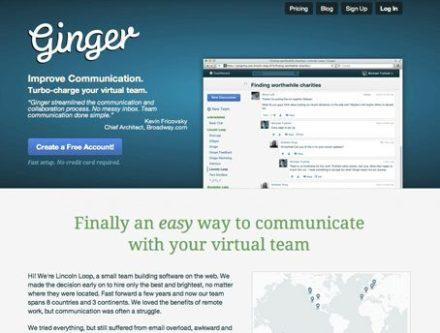ginger website