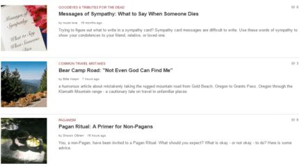 hubpages blog samples