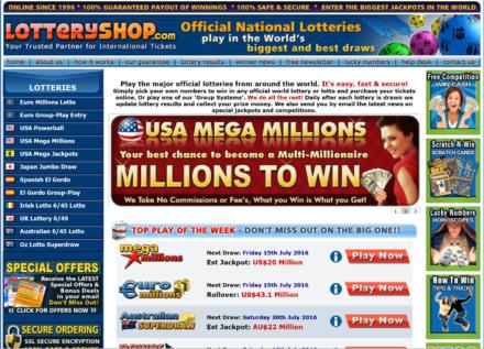 lotteryshop website