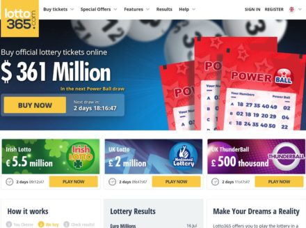 lotto365 website