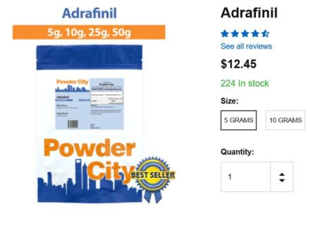 powder city adrafinil