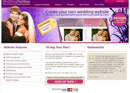 wedding toolbox website