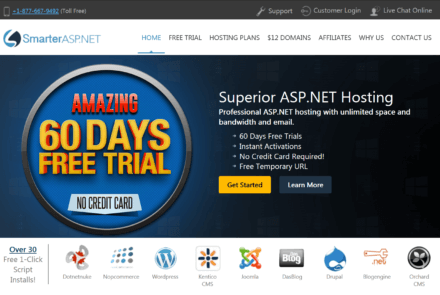 SmarterASP.net Website