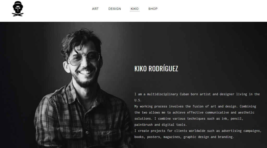A sample Weebly designer template