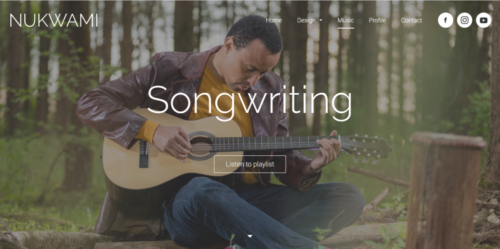 Jimdo sample music website template