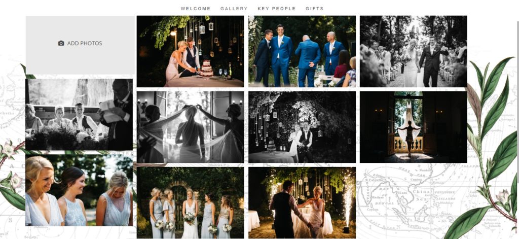 Gallery Page From Rachel And Kristian S Wedding Website