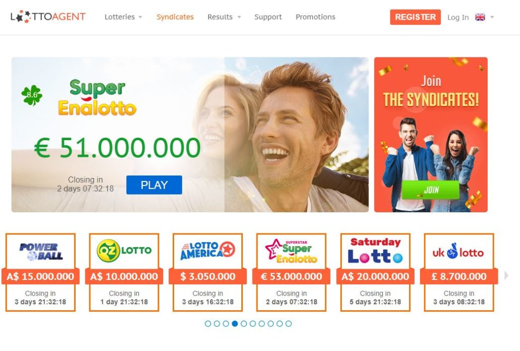 Lotto Agent Home Page